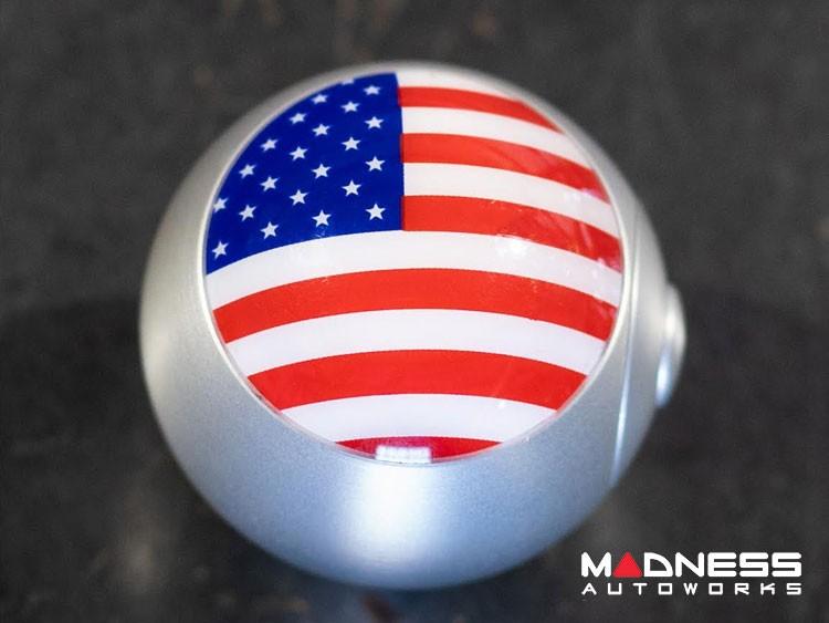 smart fortwo Gear Shift Knob - 450 Model - Chrome w/ American Flag Design