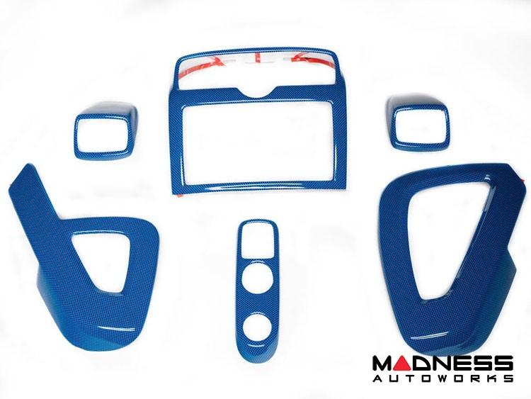 smart fortwo Interior Trim Kit - 451 model - Blue Carbon Fiber