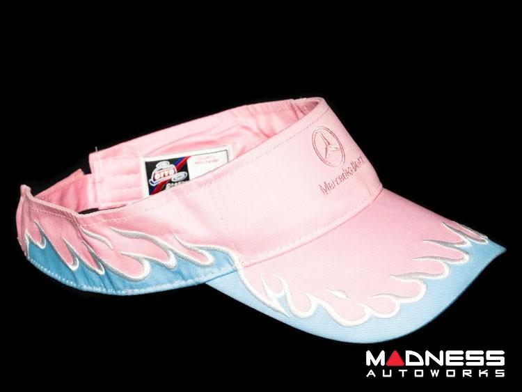 Visor - Pink w/ Mercedes Benz Logo