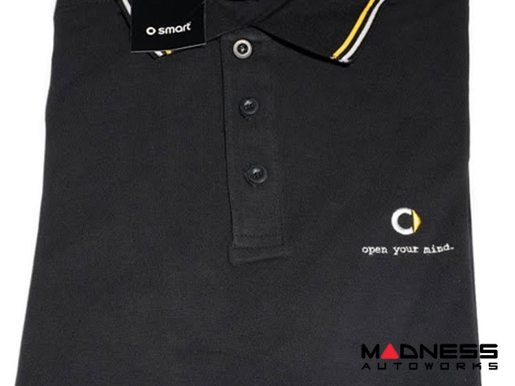 smart fortwo Men's Black Polo w/ smart Logo