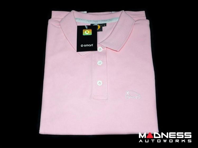 smart fortwo Women Pink Polo w/ smart Silhouette