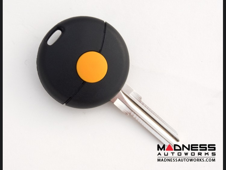smart fortwo Keyfob Replacement Part - Black Key + Case - 450 Model - 1 button
