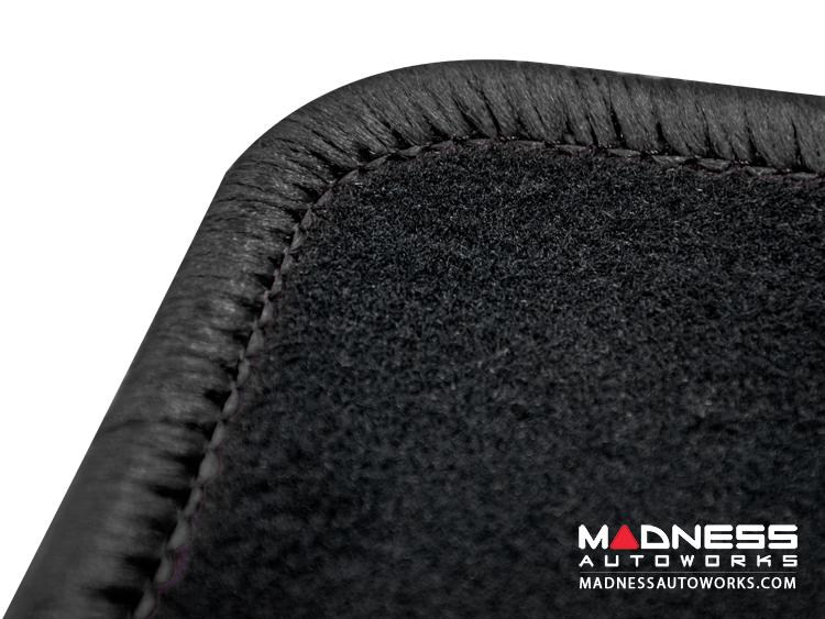 smart fortwo Custom Floor Mats - 451 model - LUXUS - Black Binding w/ smart silhouette