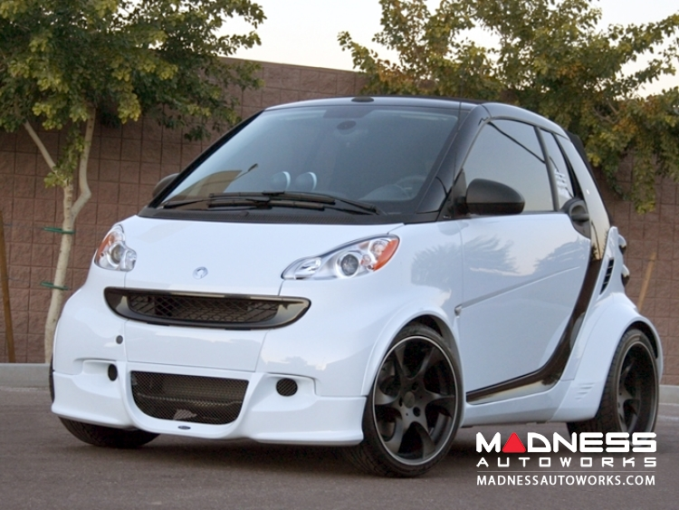 smart fortwo Complete Wide Body Styling Kit w/ Wheels - 451 model - Lorinser -  Black Satin Finish
