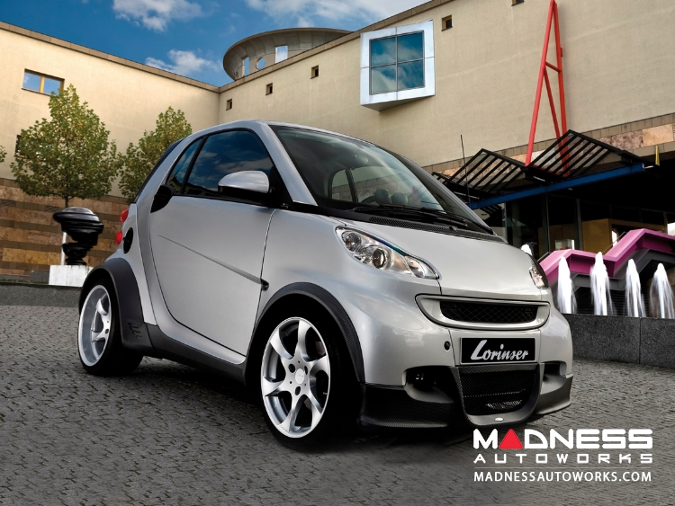 smart fortwo Complete Wide Body Styling Kit w/ Wheels - 451 model - Lorinser - Brilliant Silver Finish