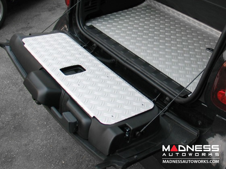smart fortwo Tailgate Cover - 453 model - Aluminum