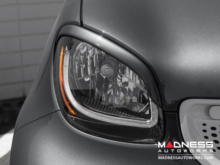 smart fortwo Eyebrows/ Headlight Trim - 453 model - Titania Gray