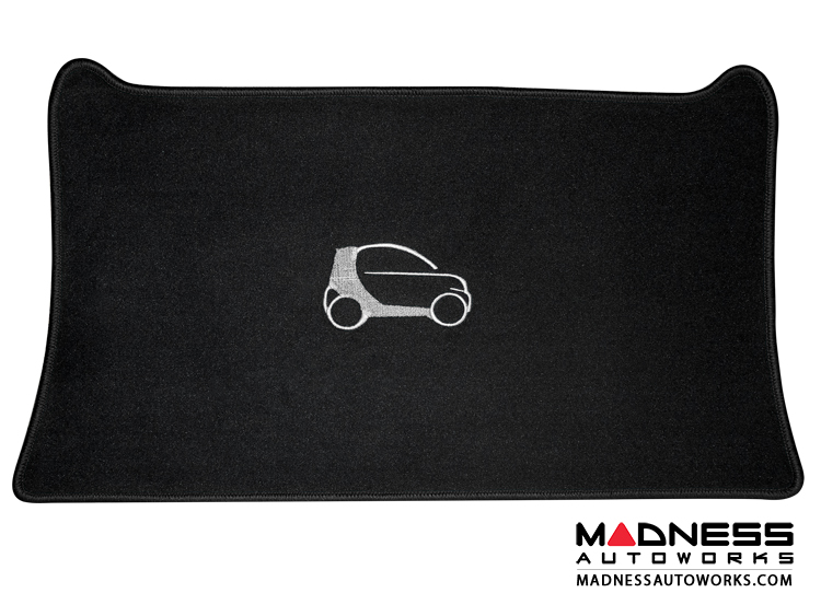 smart fortwo Cargo Area Mat -453 model - LUXUS - Black Binding
