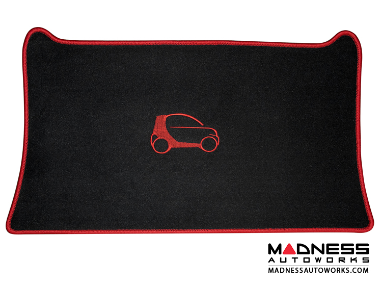 smart fortwo Cargo Area Mat - 453 model - LUXUS - Red Binding