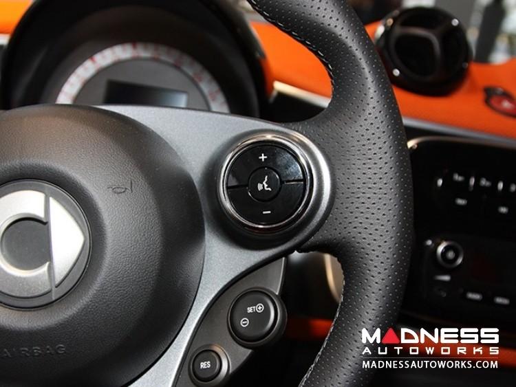 smart fortwo Steering Wheel Button Chrome Trim Ring Kit - 453 model