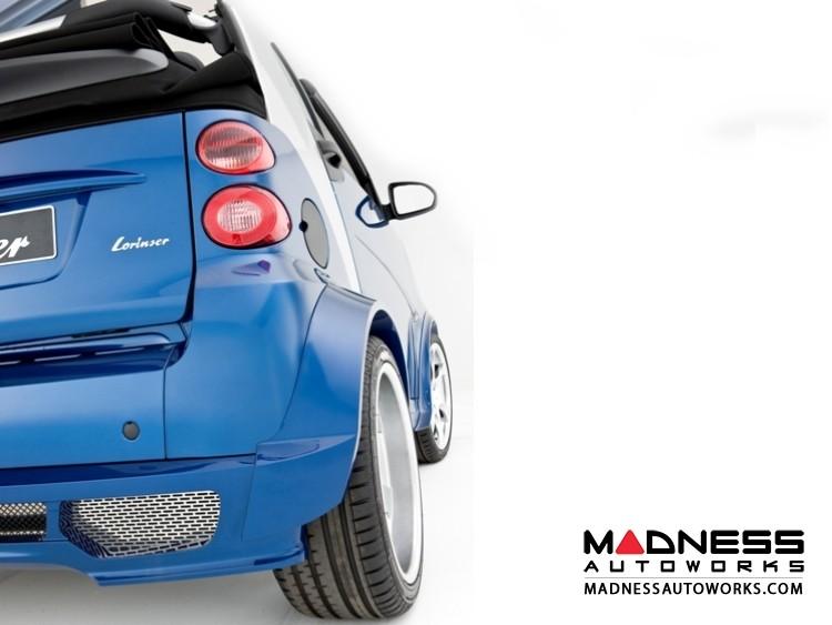 smart fortwo Complete Wide Body Styling Kit w/ Wheels - 451 model - Lorinser - Brilliant Silver Finish