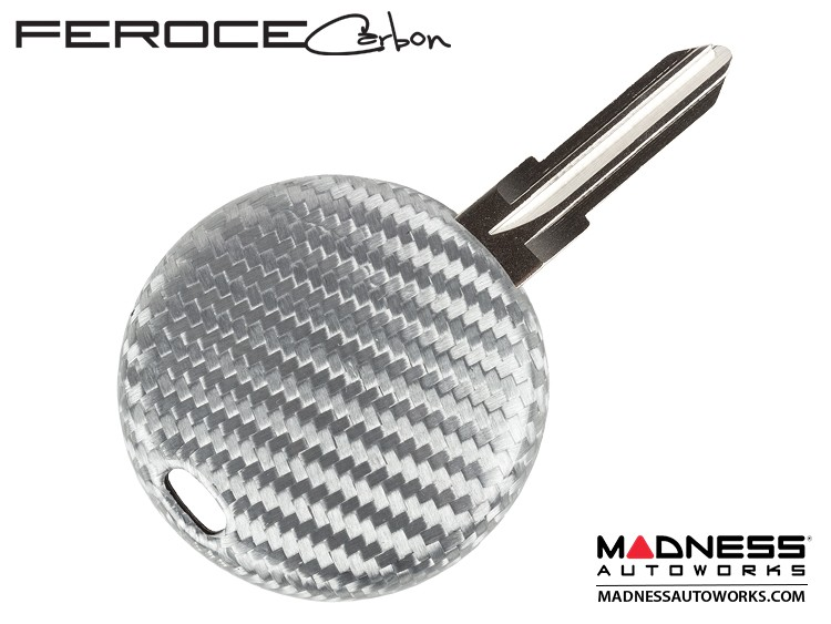 smart fortwo Keyfob Cover - 450 Model - Silver Carbon Fiber by Feroce