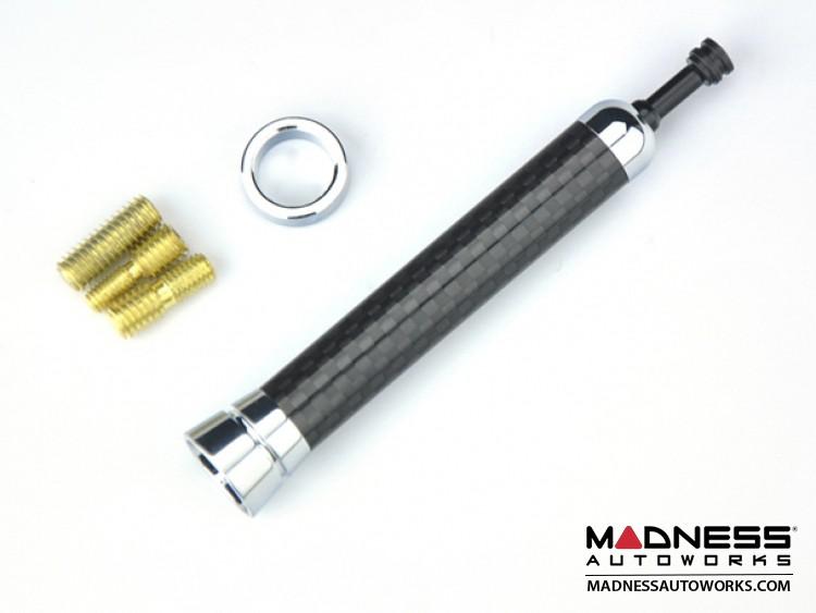 smart fortwo Antenna - Black Carbon Fiber Mast w/ Chrome Base - Telescopic