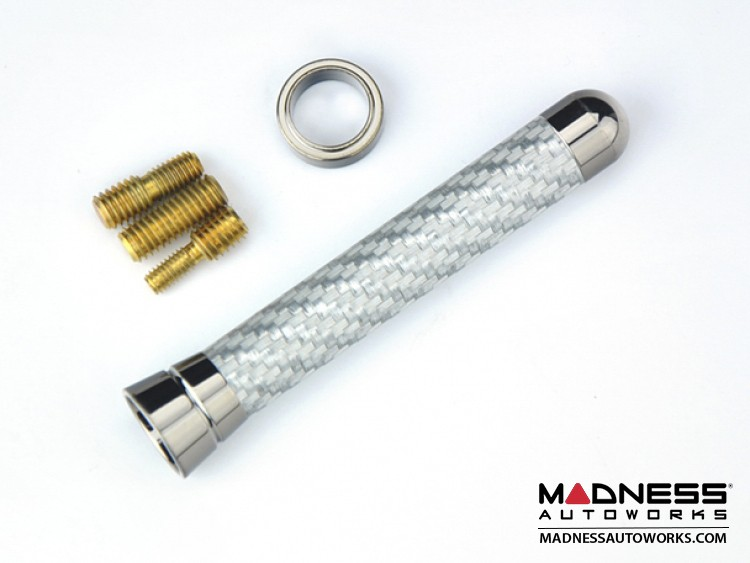 smart fortwo Antenna - Silver Carbon Fiber Mast w/ Chrome Base - Elliptic