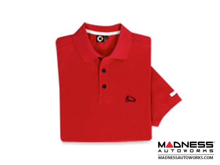 smart fortwo Men's Red Polo w/ smart Silhouette - Large