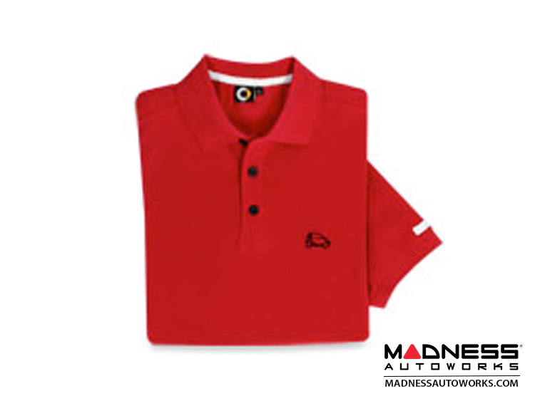 smart fortwo Men's Red Polo w/ smart Silhouette - Small