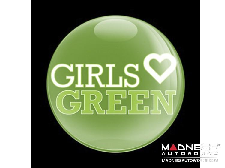 Custom Magnetic Badge - Girls Love Green