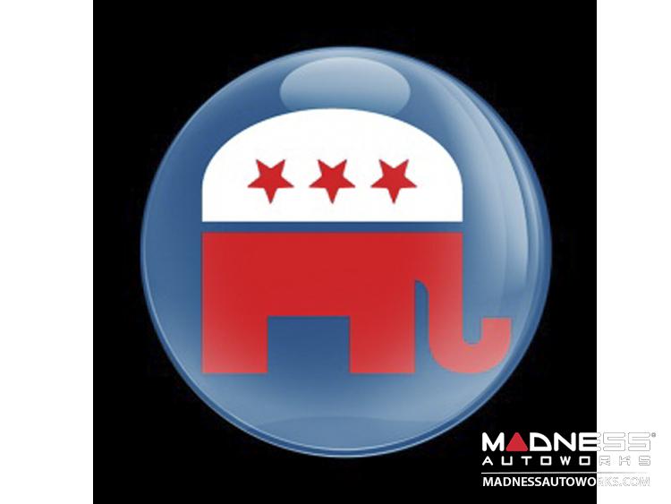 Custom Magnetic Badge - Republican Elephant