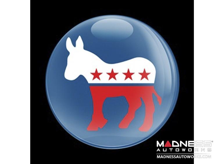 Custom Magnetic Badge - Democrat Donkey