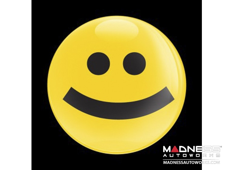 Custom Magnetic Badge - Happy Face in Yellow