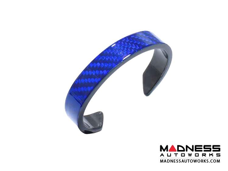Carbon Fiber Bracelet - Blue Carbon