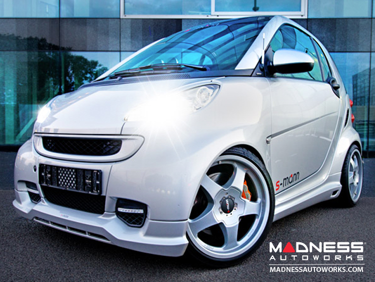 smart fortwo Body Kit - 451 Cabrio - S-Mann - Complete Kit - Silver Finish