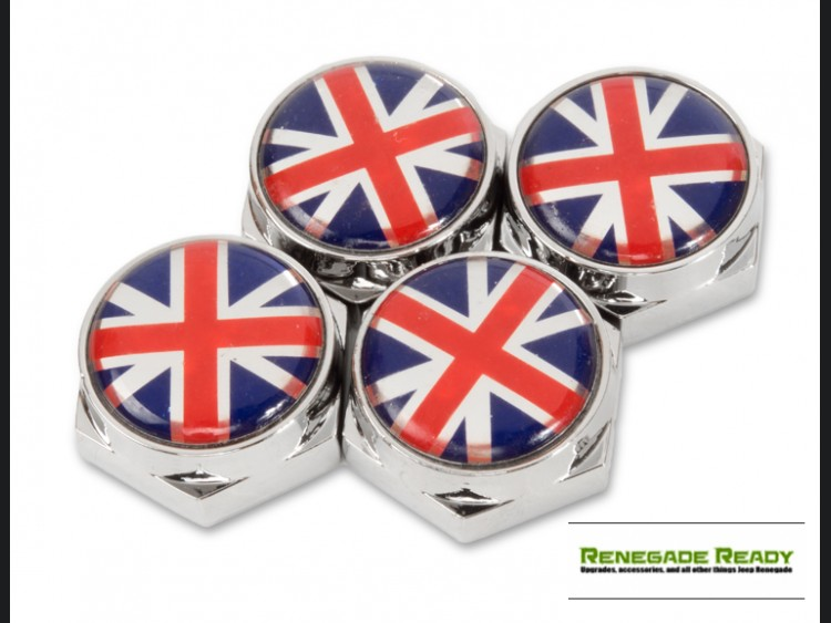 License Plate Fasteners - Union Jack Flag (set of 4) - Full Color