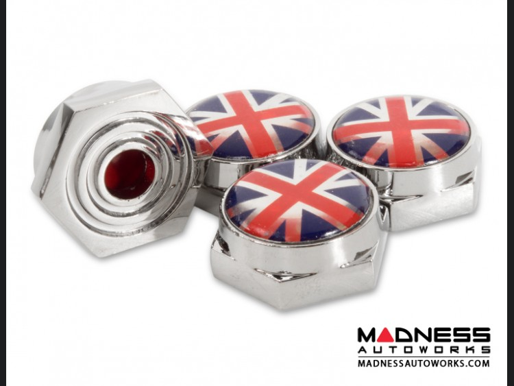 License Plate Fasteners - Union Jack