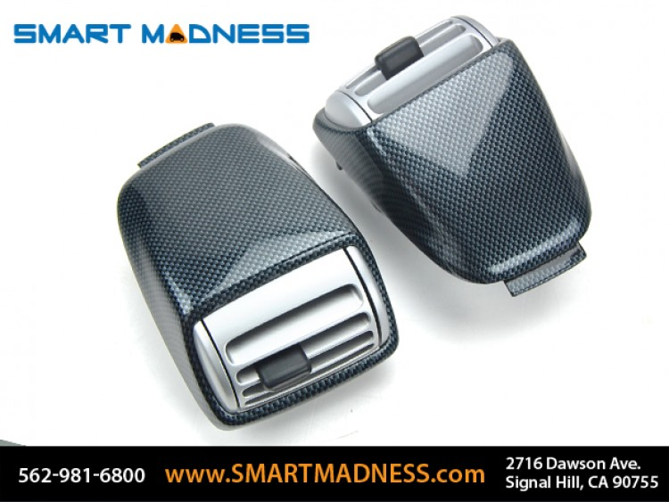 smart fortwo Dash Top Vents (2) - 451 model - Carbon Fiber Finish