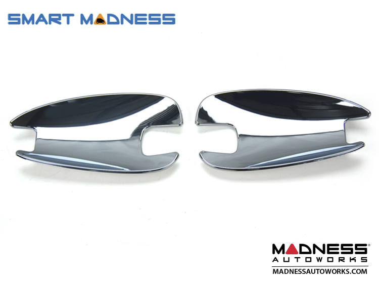smart fortwo Exterior Door Handle Trim Kit - 451 Model - Chrome Finish