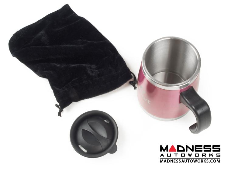 Desk Mug - Stainless Steel - smart Logo - Pink Finish