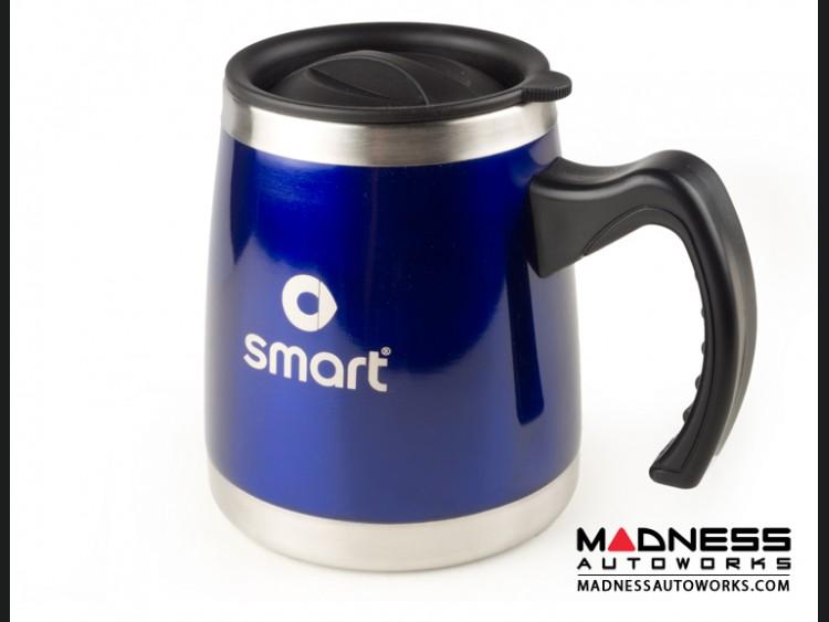Desk Mug (16oz) - Stainless Steel - smart Logo - Blue Finish
