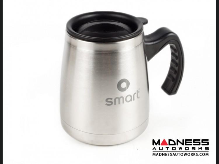Desk Mug (16oz) - Stainless Steel - smart Logo - Stainless Steel Finish