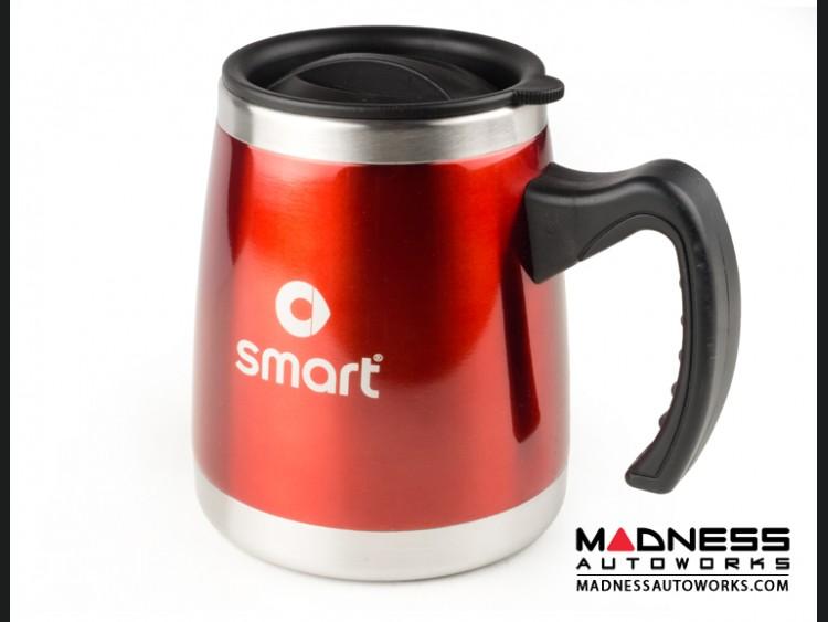 Desk Mug (16oz) - Stainless Steel - smart Logo - Red Finish