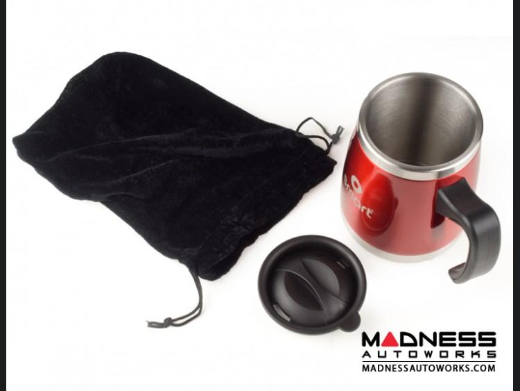 Desk Mug - Stainless Steel - smart Logo - Red Finish
