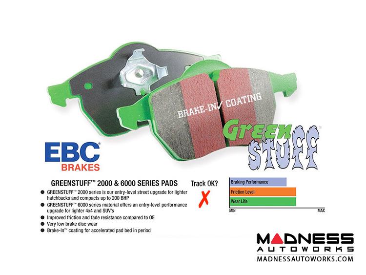 smart fortwo Brake Pads - 453 - EBC - Greenstuff Premium Street