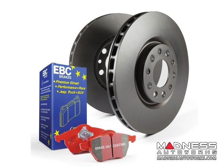 smart fortwo Front Brake Upgrade Kit - 451 model - EBC Redstuff Brake Pads - RK Rotors - Stage 12