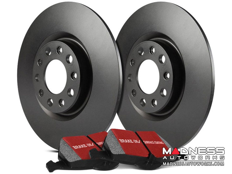 smart fortwo Front Brake Upgrade Kit - 451 model - EBC - Stage 1 - RK Rotors / Ultimax Pads
