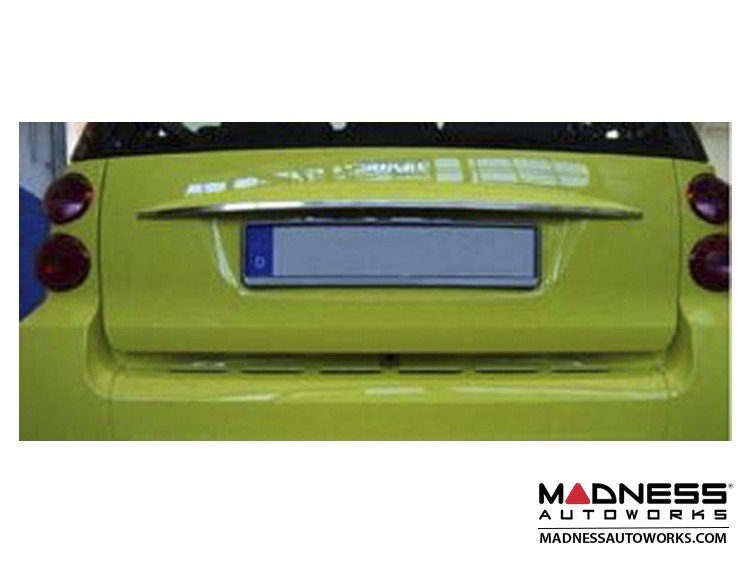 smart fortwo Rear Boot Trim - 451 model - Brushed Stainless Steel