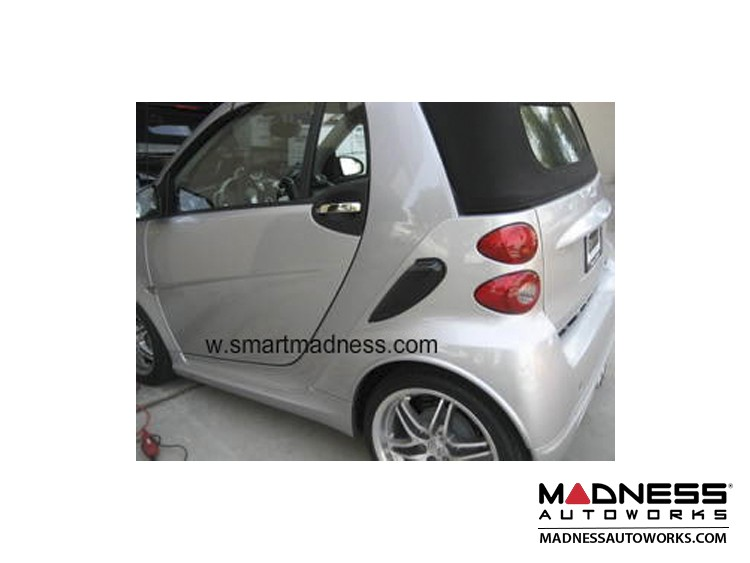 smart fortwo Chrome Door Handle Trim Kit - 451 - Polished Stainless Steel