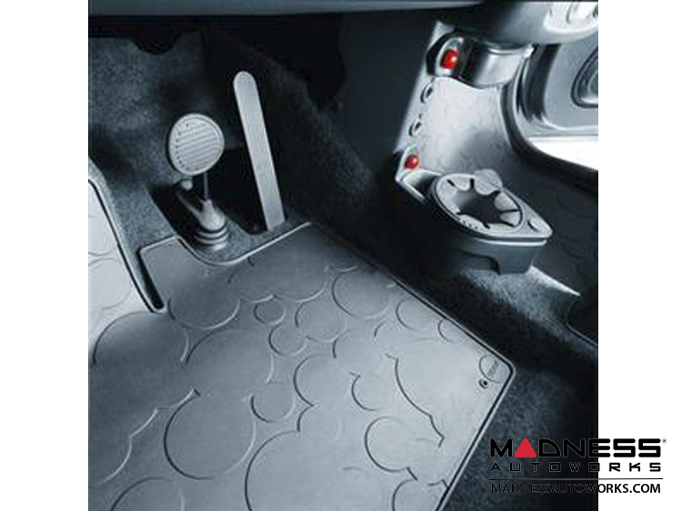 smart fortwo Floor Mats - 450 model - All Weather Rubber - Genuine smart