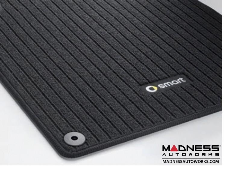 smart fortwo Floor Mats - 451 model - Ribbed Carpet - Genuine smart