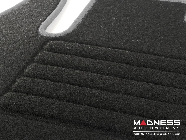 smart fortwo Floor Mats + Cargo Mat Set - 453 model -  Carpet with Silver Binding