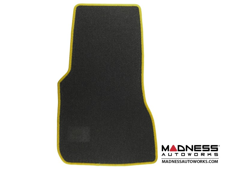 smart fortwo Floor Mats - 453 model - Carpet w/ Yellow Binding