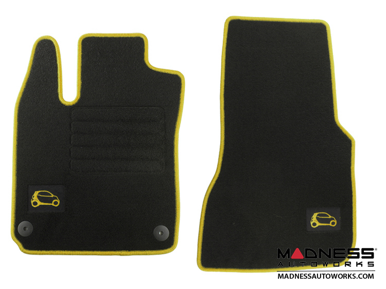 smart fortwo Floor Mats - 453 model - Carpet with Yellow Binding