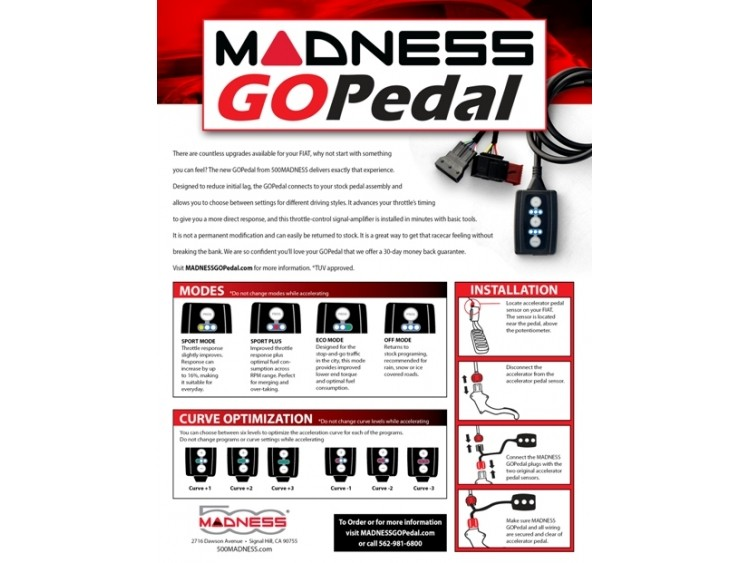 smart fortwo Throttle Controller - MADNESS GOPedal - 451 EU model