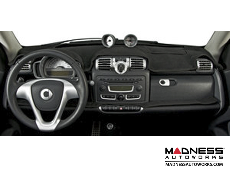 smart fortwo Dash Cover - 451 model - Pre '11 -  w/o Tach/ Clock Cut Outs - Black