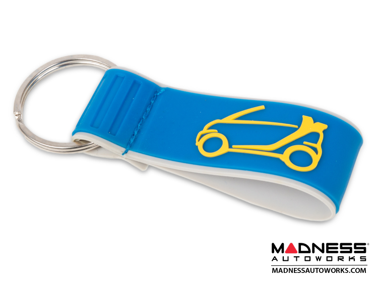 smart fortwo Keychain - Cabrio Design in Blue/ Yellow