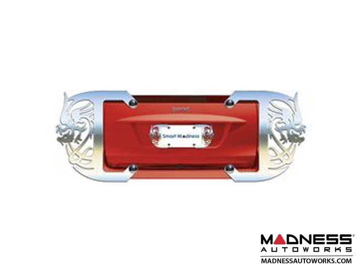smart fortwo Custom License Plate Frame - Polished Finish - Hot Love Design