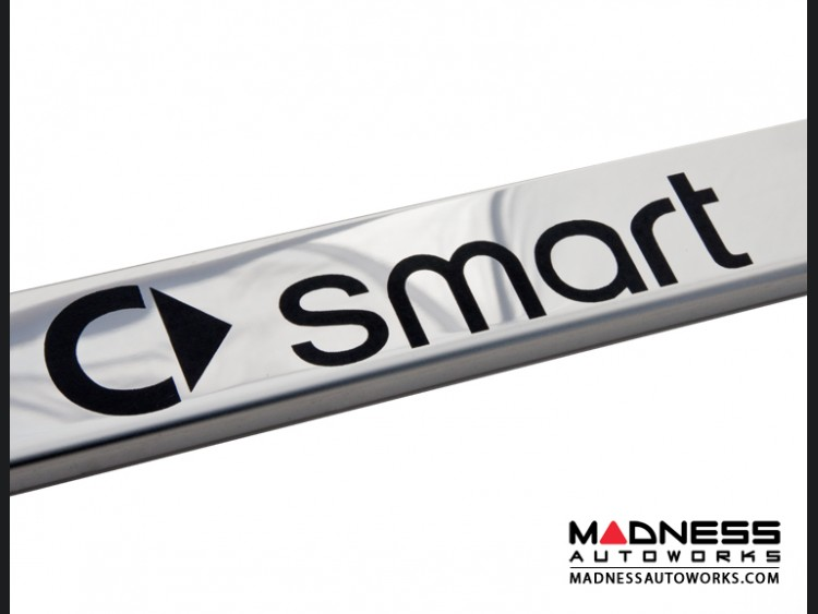 smart fortwo License Plate Frame - Stainless Steel